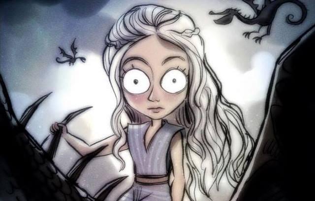 Game of Thrones im Tim Burton Stil von Andrew Tarusov