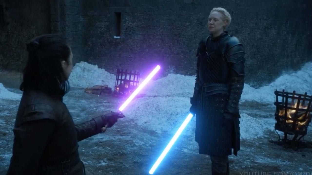 Game of Thrones: Arya und Brienne im Laserschwert-Duell