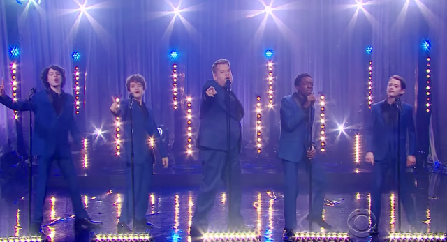 Stranger Things: Die Jungs als Motown-Group feat. James Corden