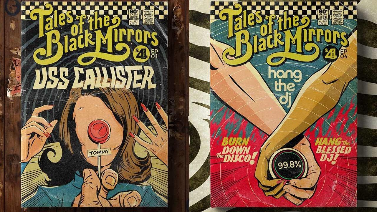 Comic-Cover zu jeder Black Mirror-Folge