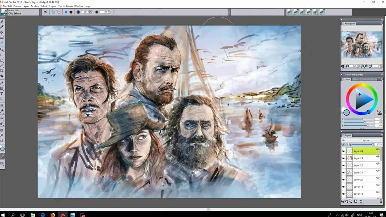 Black Sails: Making of eines Postermotives