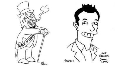 Matt Groening und Seth McFarlane zeichnen sich gegenseitig