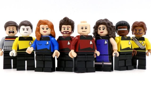 Star Trek TNG Lego Figuren