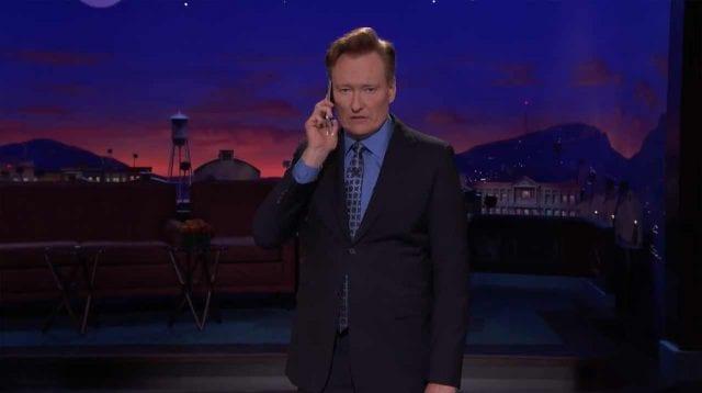 Conan will einen fehlgezündeten Witz umtauschen