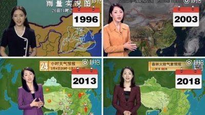 Chinesische Wetterfrau altert nicht
