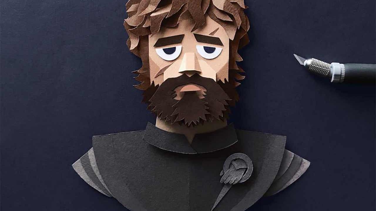 Game of Thrones-Portraits aus Papier