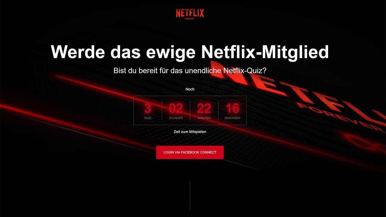 Beim ultimativen Netflix-Quiz gibt es 3 lebenslange Abos zu gewinnen