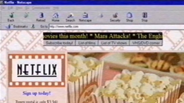 So sah Netflix 1995 aus