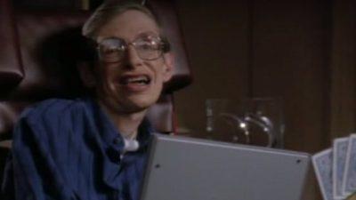 Als Stephen Hawking bei Star Trek mitspielte