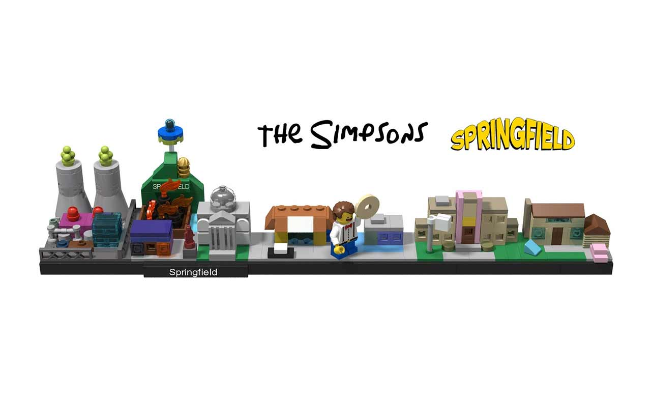 Springfield als Mini-LEGO-Set