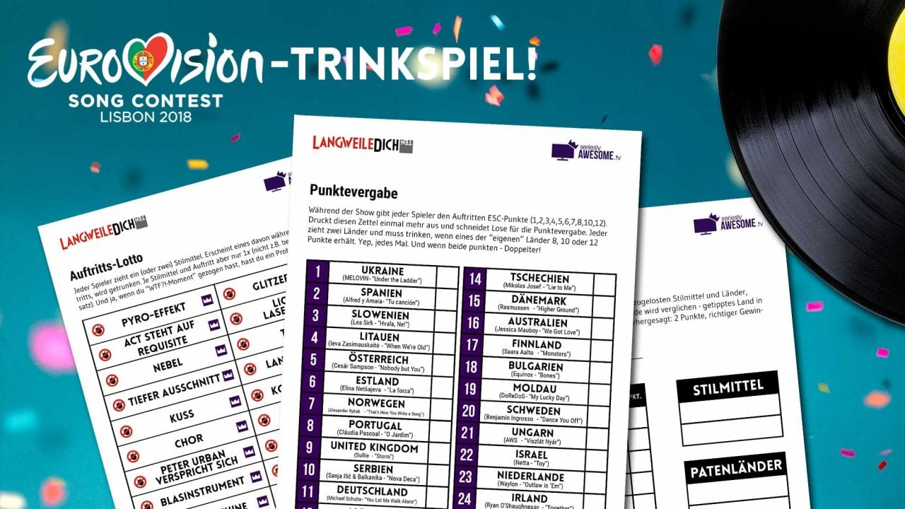 Eurovision Song Contest 2018: Trinkspiel zum Herunterladen