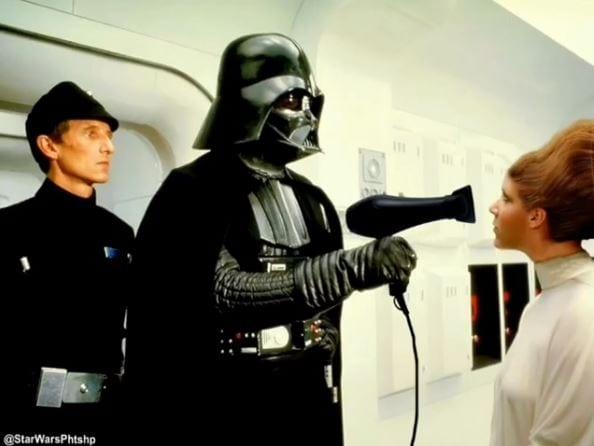 01_leia_darth_vader_hair Bilder: So habt ihr Star Wars noch nicht gesehen
