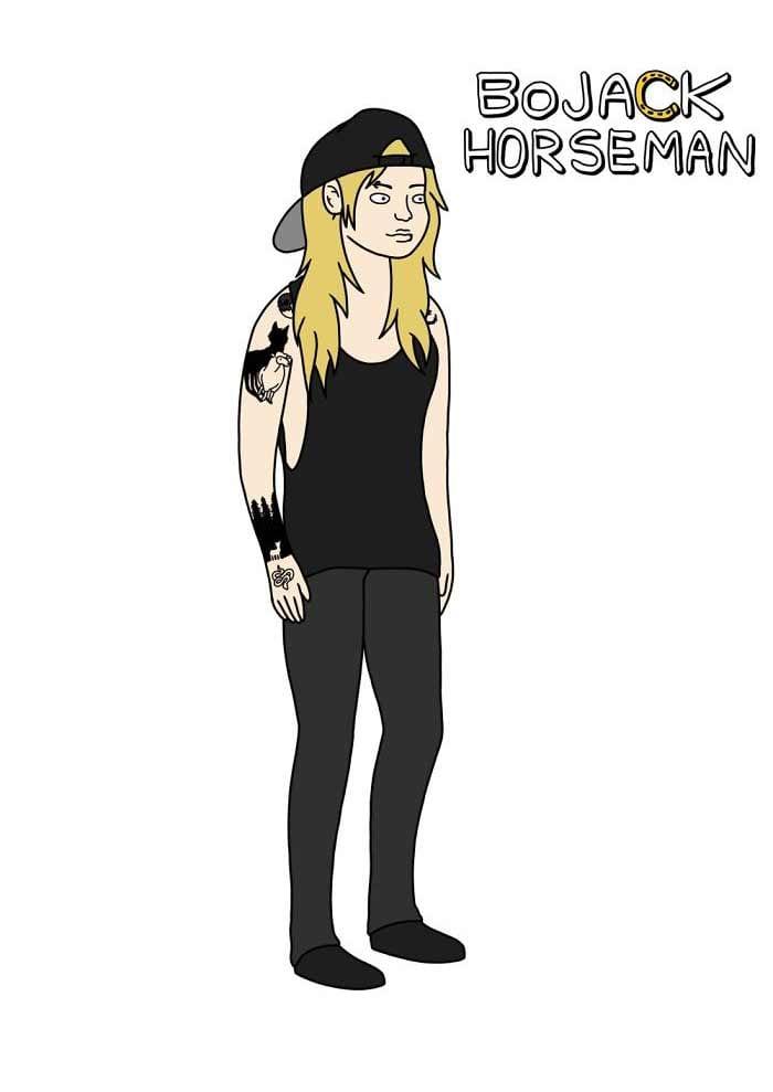 Hannah-Dunn-cartoon-portraits_20 Hannah Dunn hat sich in etlichen Cartoon-Stilen gezeichnet