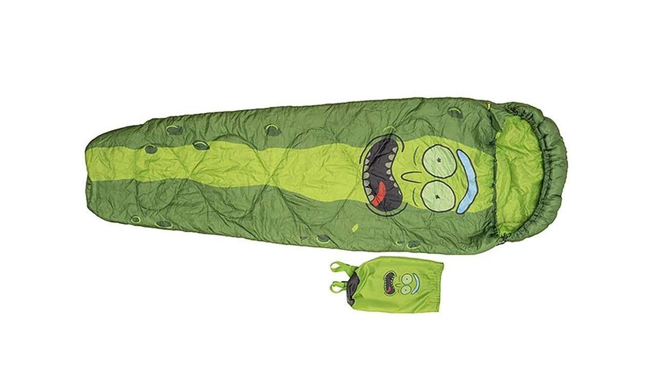 Pickle Rick-Schlafsack