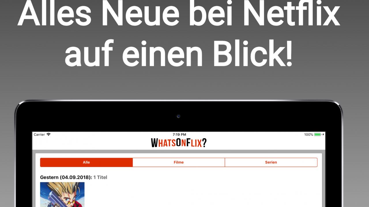 WhatsOnFlix? – Neue News-App für Netflix