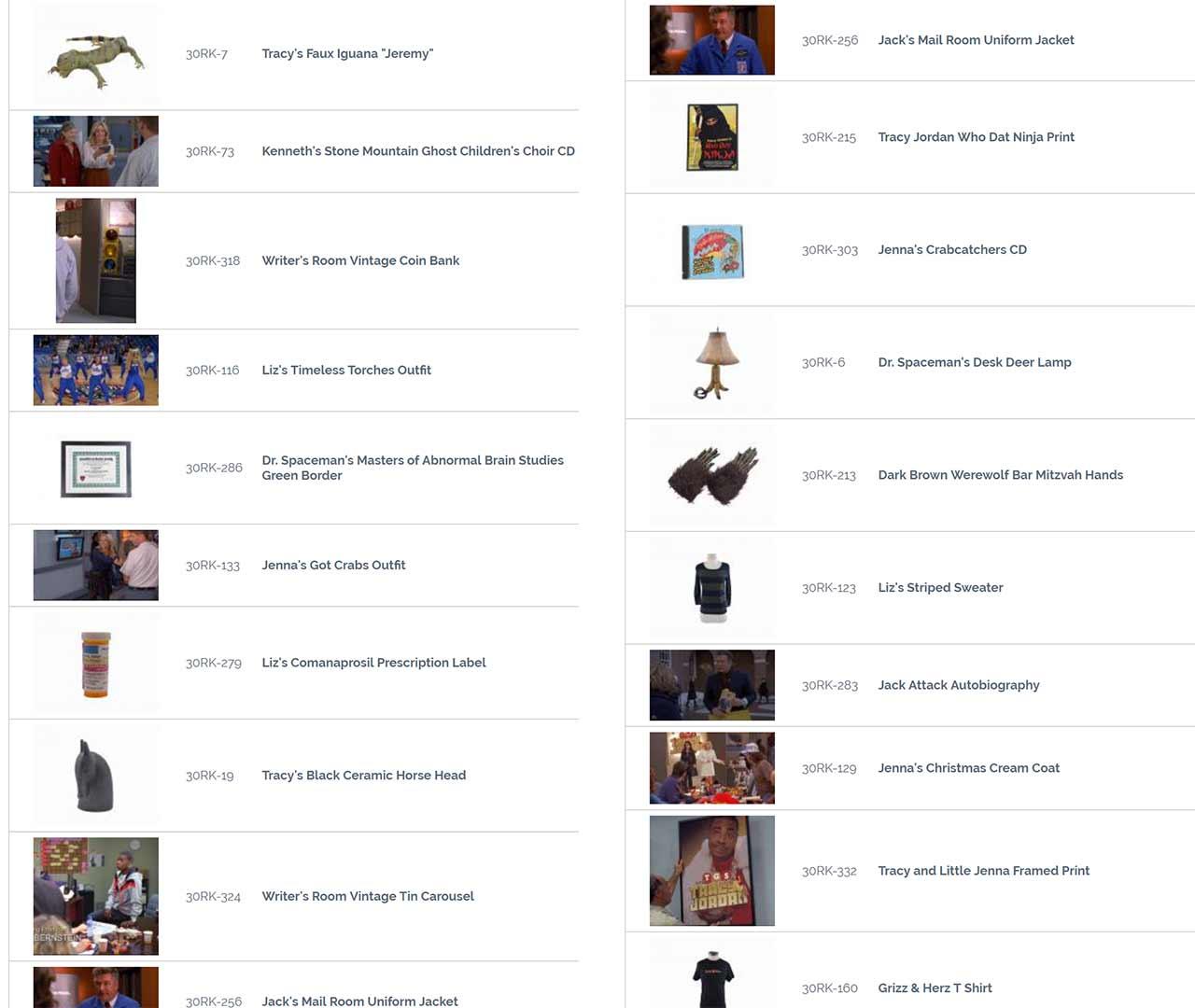 """30-Rock-Auktion_02 Ersteigert originale Requisiten aus """"30 Rock"""""""