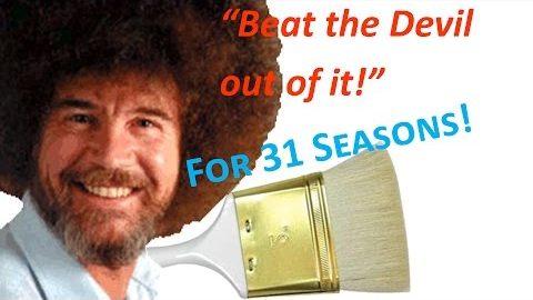 Bob Ross reinigt Pinsel Supercut