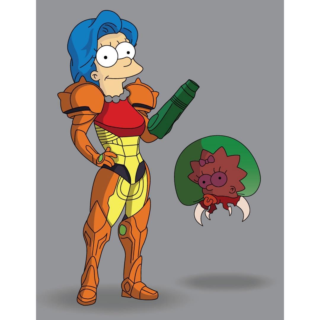 metroid Simpsonisierte Popkultur