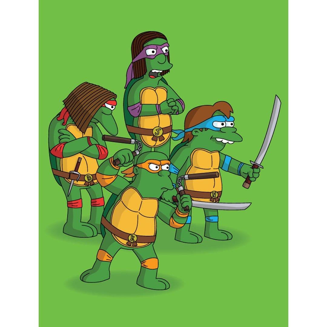 turtles Simpsonisierte Popkultur