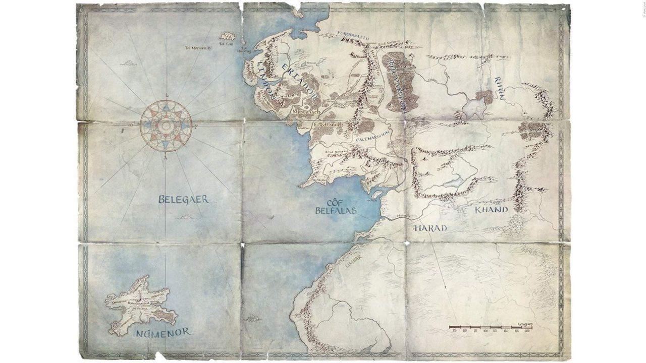 Der Herr der Ringe TV-Serie Landkarte