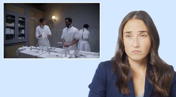 Chirurgische Assistentin beurteilt OP-Szenen aus Serien