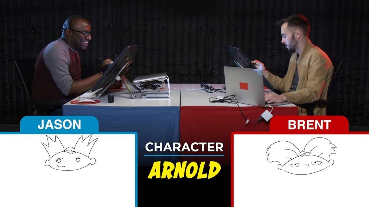 Zeichner versuchen 90er-Cartoonfiguren aus dem Kopf zu malen