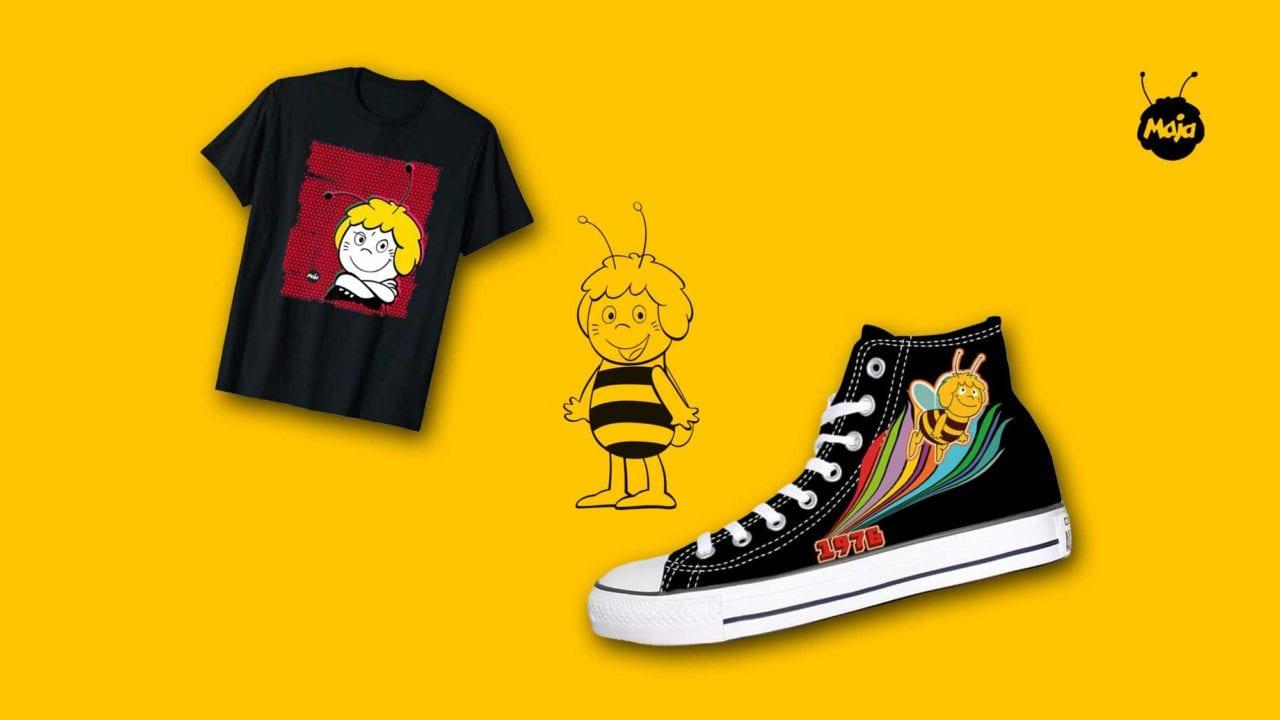 Gewinnt Sneakers & Shirt aus der Biene Maja Retro Kollektion