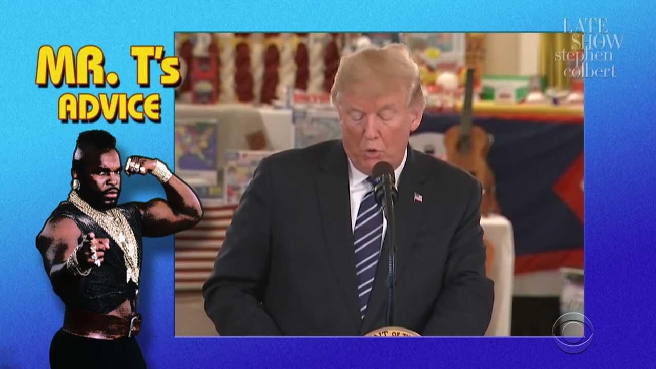 Mr. T hat ein paar Ratschläge für Präsident T. parat