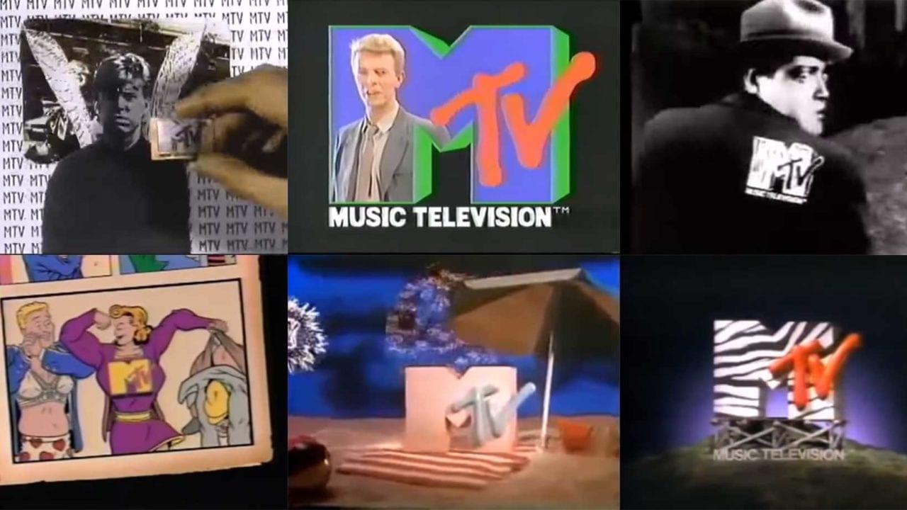 230 alte Werbetrenner von MTV aneinandergereiht