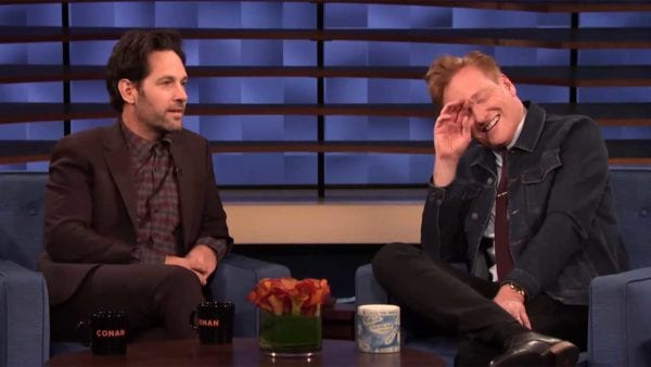 """Paul Rudd spricht mit Conan über """"Living with Yourself"""" und die zu lange Watchlist"""
