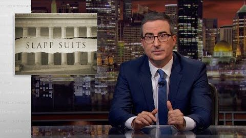 Last Week Tonight with John Oliver: SLAPP Suits