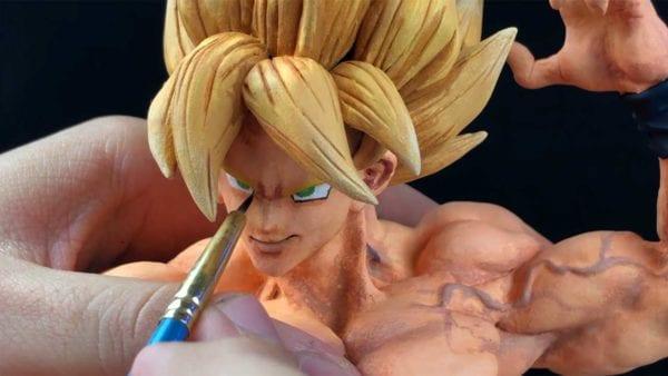Das Erstellen einer Son Goku-Skulptur