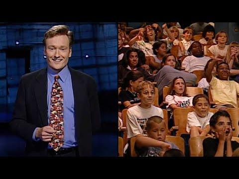 Als Conan O'Brien vor einem reinen Kinder-Publikum aufzeichnete (1997)