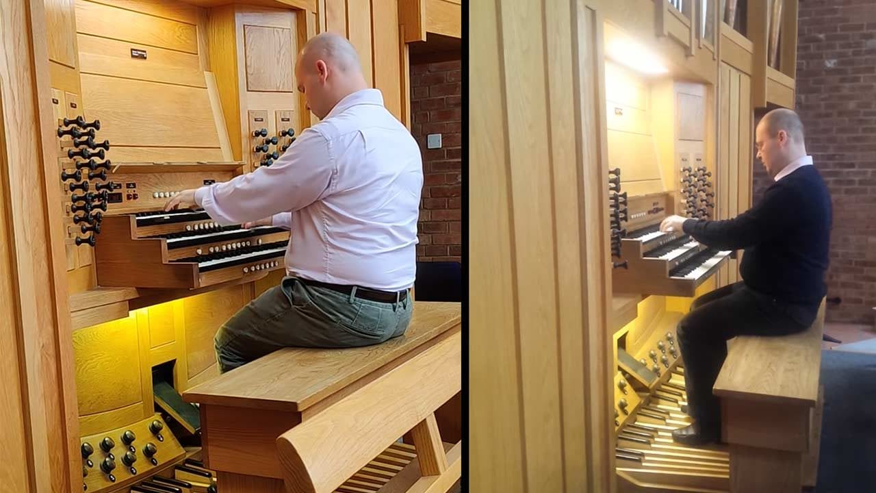 Cartoon-Titelmelodien auf der Orgel gespielt