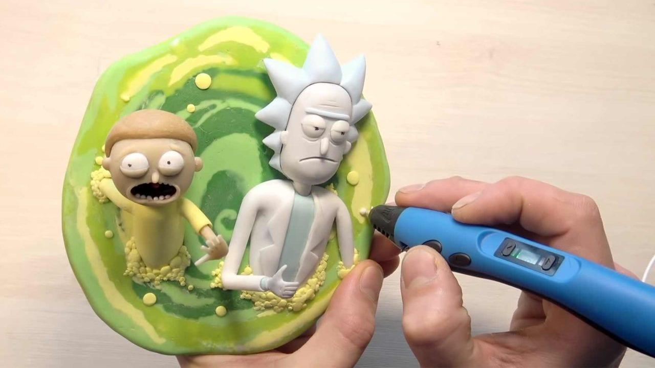 """""""Rick and Morty"""" mit einem 3D-Stift gezeichnet"""