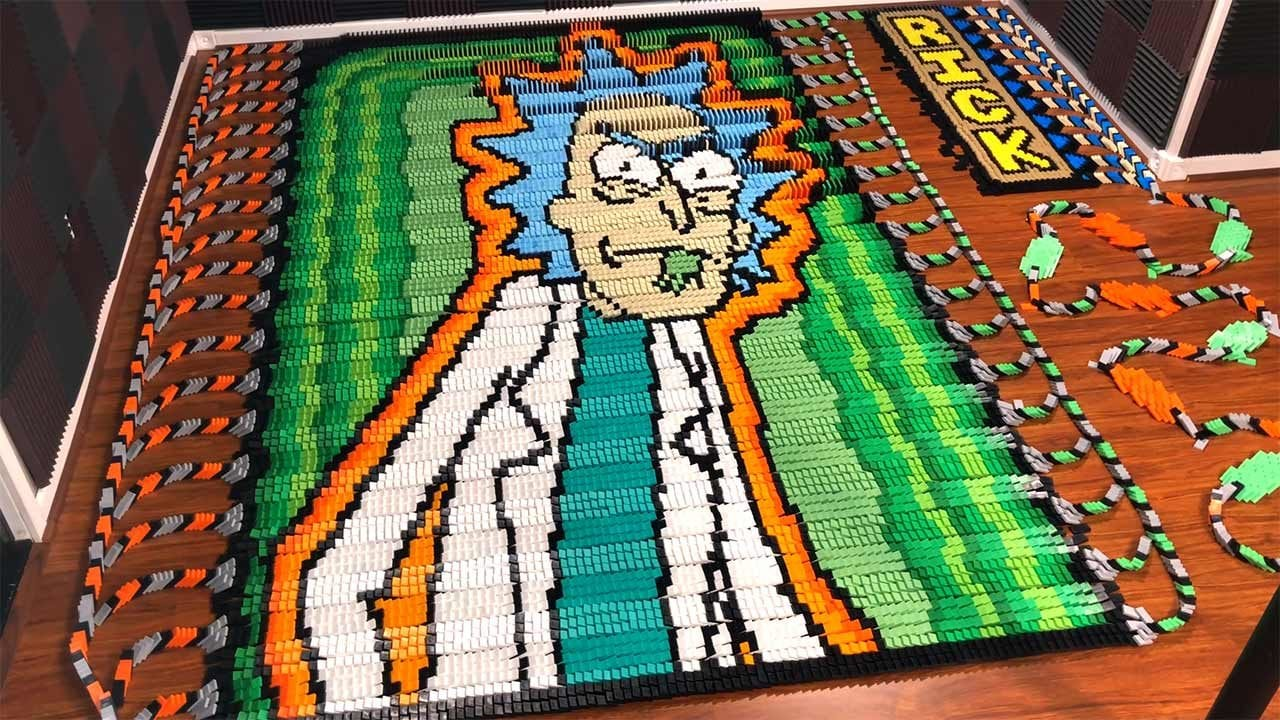 Rick and Morty and 75,166 Dominos