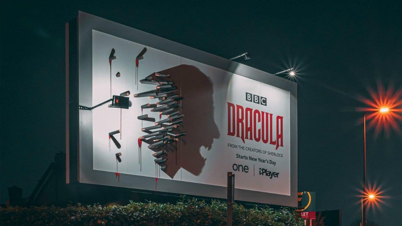 "Innovative Werbetafel für ""Dracula"""