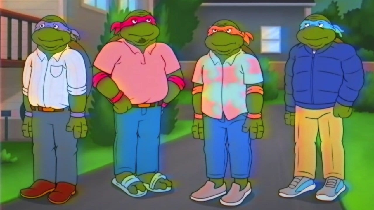 "Witziger Clip mit den gealterten ""Teenage Mutant Ninja Turtles"""