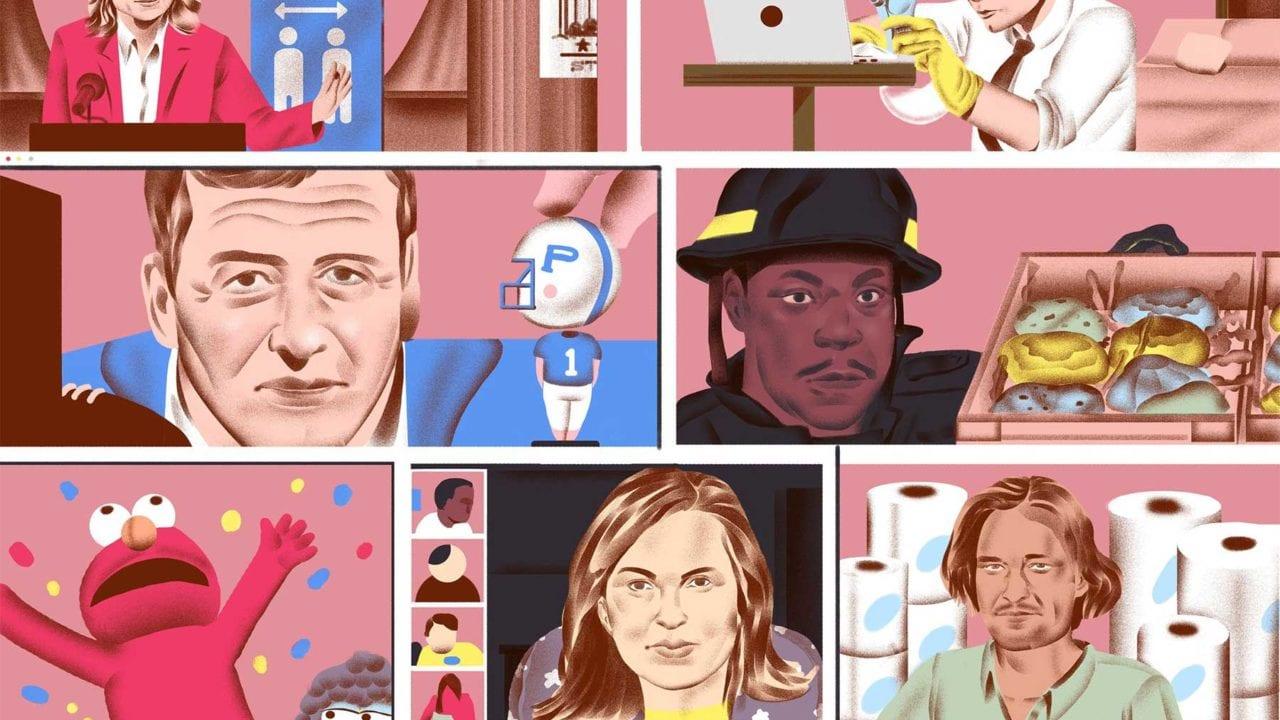 Wie Serienfiguren die Coronavirus-Pandemie erleben würden
