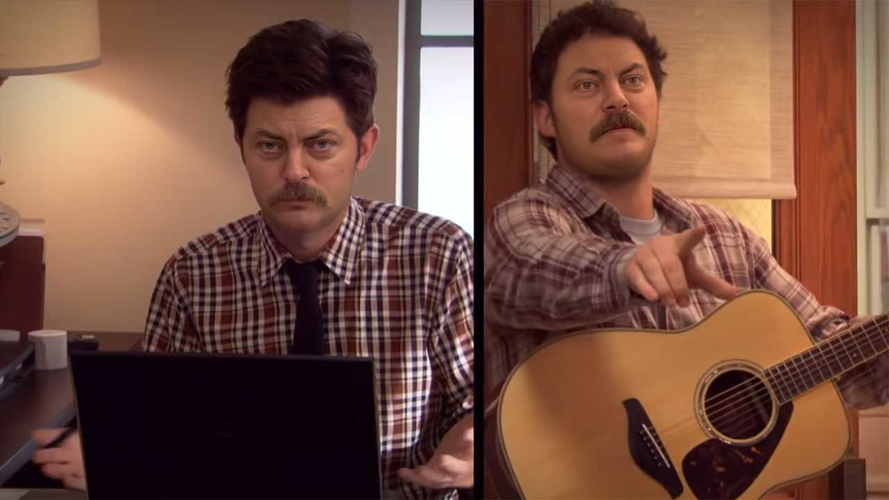 "Alle im ""Parks & Recreation""-Intro sind Ron Swanson"