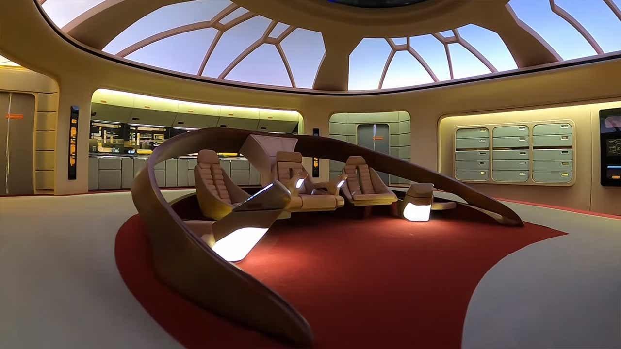 """Star Trek: Detaillierter Replica-Nachbau der Brücke vom Raumschiff """"Enterprise"""""""