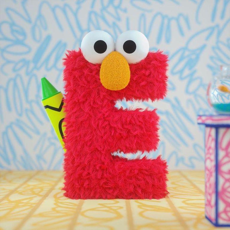 E for Elmo