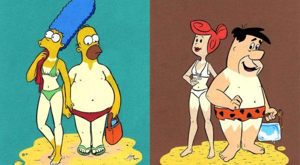 Die Bräunungsstreifen animierter Serienfiguren