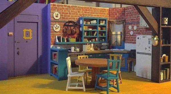 Friends: Miniatur-Modell von Monicas Wohnung aus Papier