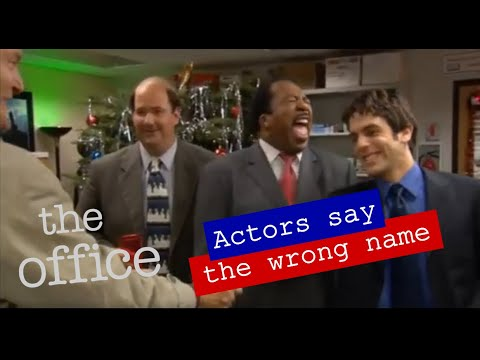 The Office: Outtakes, in denen die Darsteller falsche Namen nennen