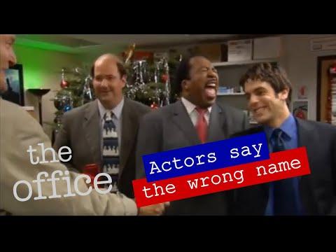 The Office: Outtakes, in denen die Darsteller falsche Namen nennen