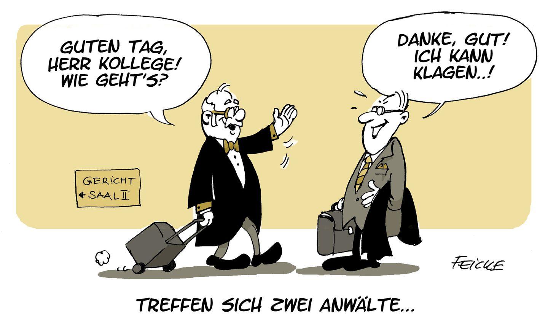 Anwälte Karikatur