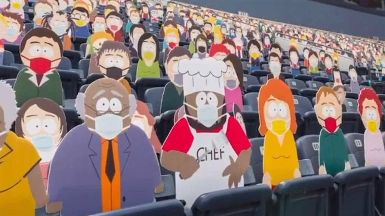 "1.800 ""South Park""-Pappfiguren im Footballstadion der Denver Broncos"