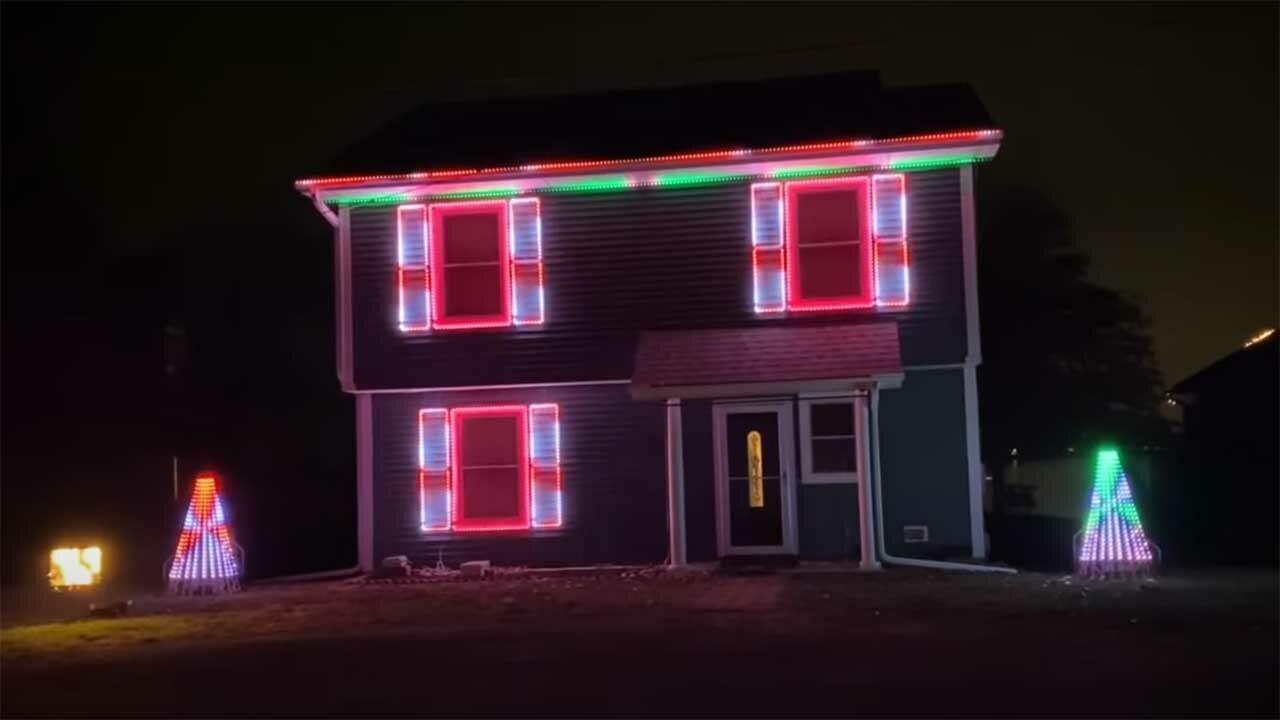 The Mandalorian: Lichter-Show einer Haus-Weihnachtsdekoration
