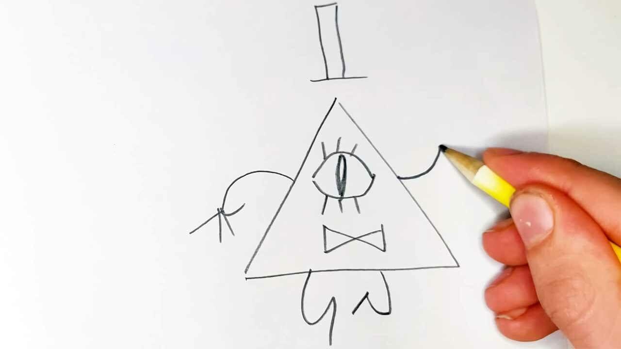 """Bill Cipher synchron zum """"Gravity Falls""""-Theme gezeichnet"""